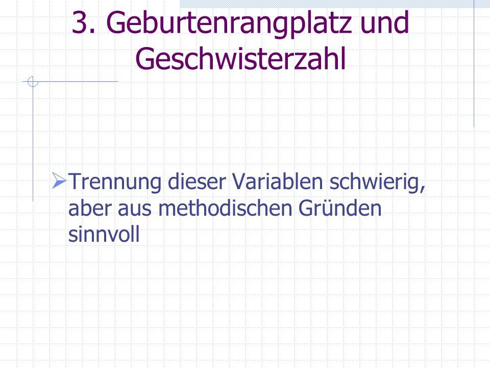 2.3 Faktoren 1. Elternverhalten 2. Kritische Lebensereignisse (Traumata) 3. Strukturelle Variablen (Altersunterschied, Geschlecht) 4. Persönlichkeitss