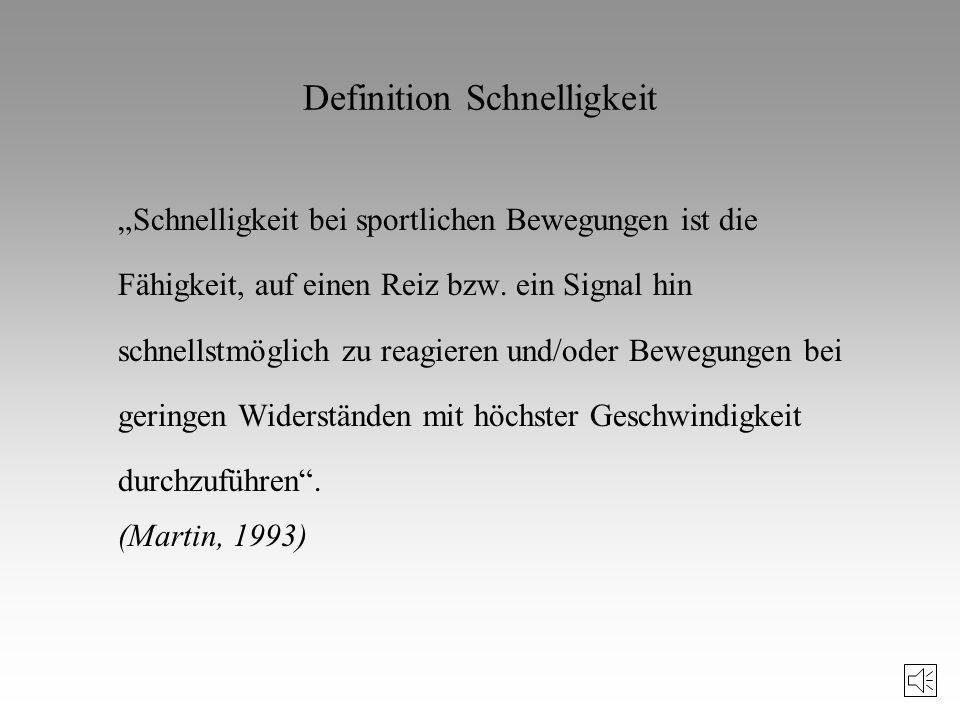 Literaturhinweis zu Schnelligkeit und Technik (II) Rieder, H./Lehnertz, K.: Bewegungslernen und Techniktraining. Schorndorf, 1997. Roth, K.: Ein neues
