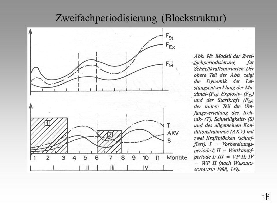 Ziele des Periodisierungsmodells Werchoschanski strebt also einen hohen und langanhaltenden Trainingsgewinn an, der aber erst nach Abschluss mehrerer