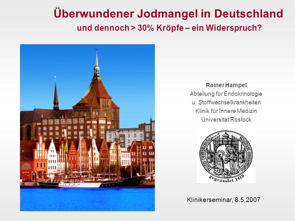 Urinjodidausscheidung von Neugeborenen in Berlin und Randgebieten 2001 (n=533) % Arb.