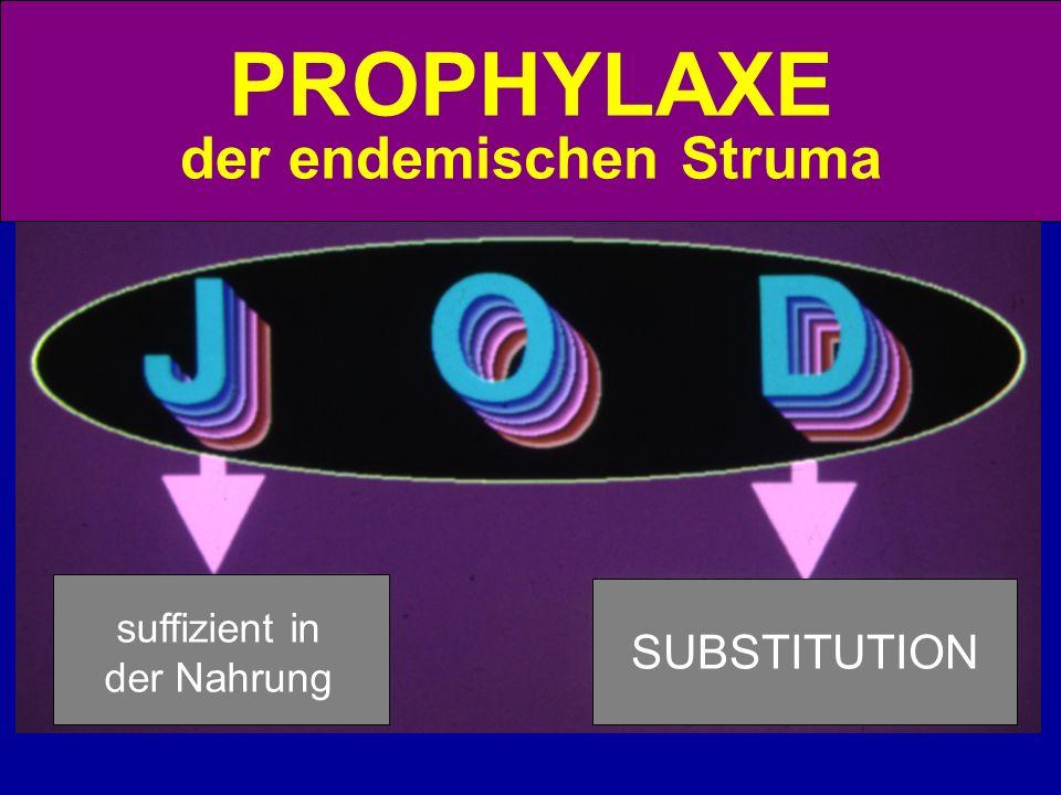 suffizient in der Nahrung SUBSTITUTION PROPHYLAXE der endemischen Struma