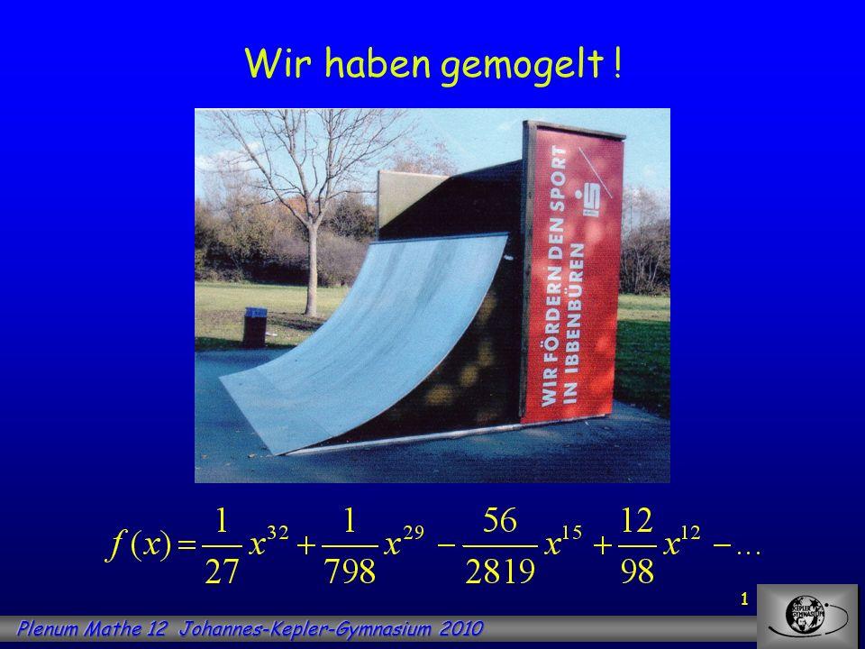 12 Aufgabe: Bestimme den Flächeninhalt der Fläche zwischen der x-Achse und dem Graphen der Funktion f mit im Intervall [0; 6].