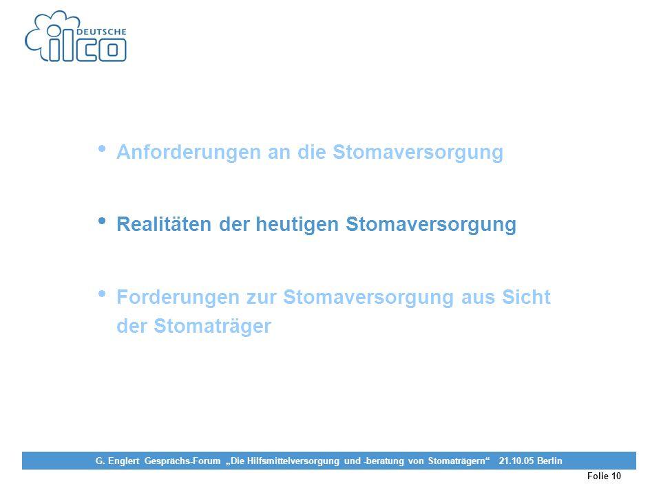 Folie 10 Projekt Darmkrebs-Informationsstelle, gefördert von der Deutschen Krebshilfe Vereinigung von Stomaträgern (künstlicher Darmausgang, künstlich