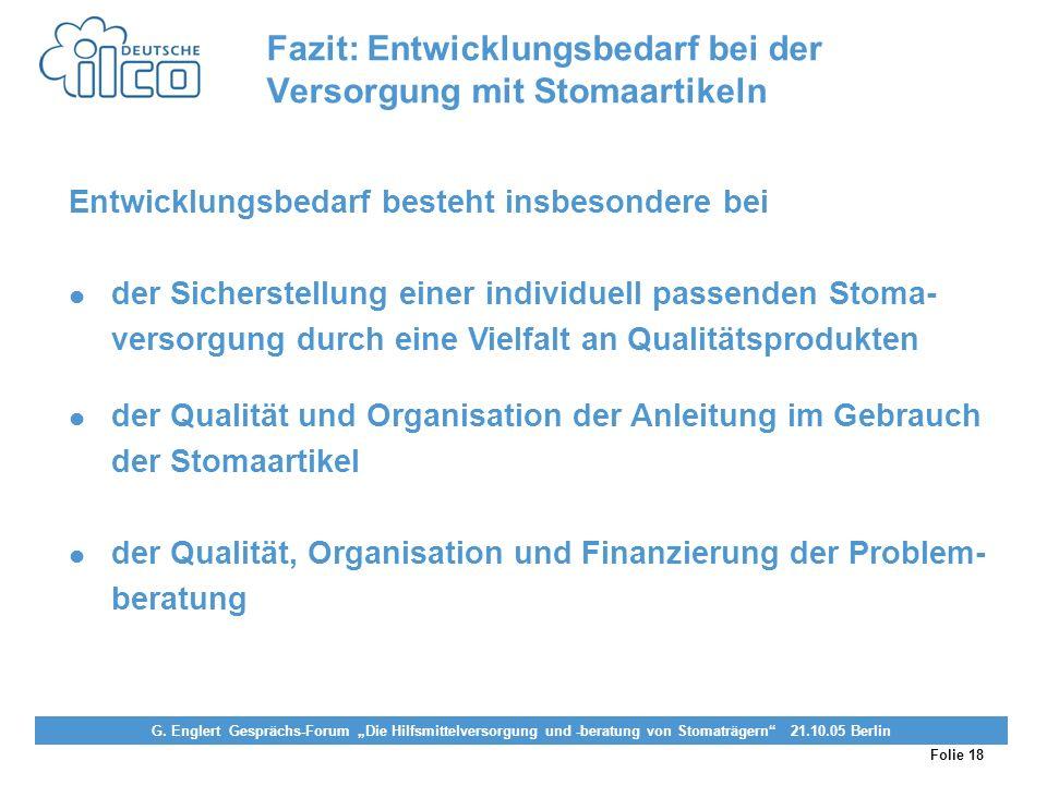 Folie 18 Projekt Darmkrebs-Informationsstelle, gefördert von der Deutschen Krebshilfe Vereinigung von Stomaträgern (künstlicher Darmausgang, künstlich