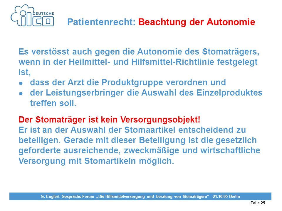 Folie 25 Projekt Darmkrebs-Informationsstelle, gefördert von der Deutschen Krebshilfe Vereinigung von Stomaträgern (künstlicher Darmausgang, künstlich