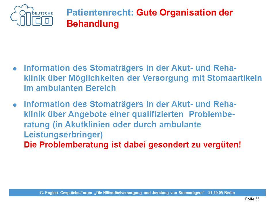 Folie 33 Projekt Darmkrebs-Informationsstelle, gefördert von der Deutschen Krebshilfe Vereinigung von Stomaträgern (künstlicher Darmausgang, künstlich