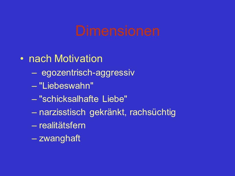 Dimensionen nach Motivation – egozentrisch-aggressiv –