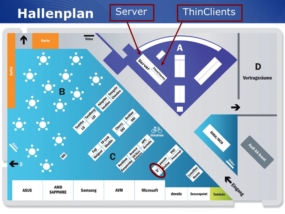 www.wortmann.de Hallenplan ThinClients Server