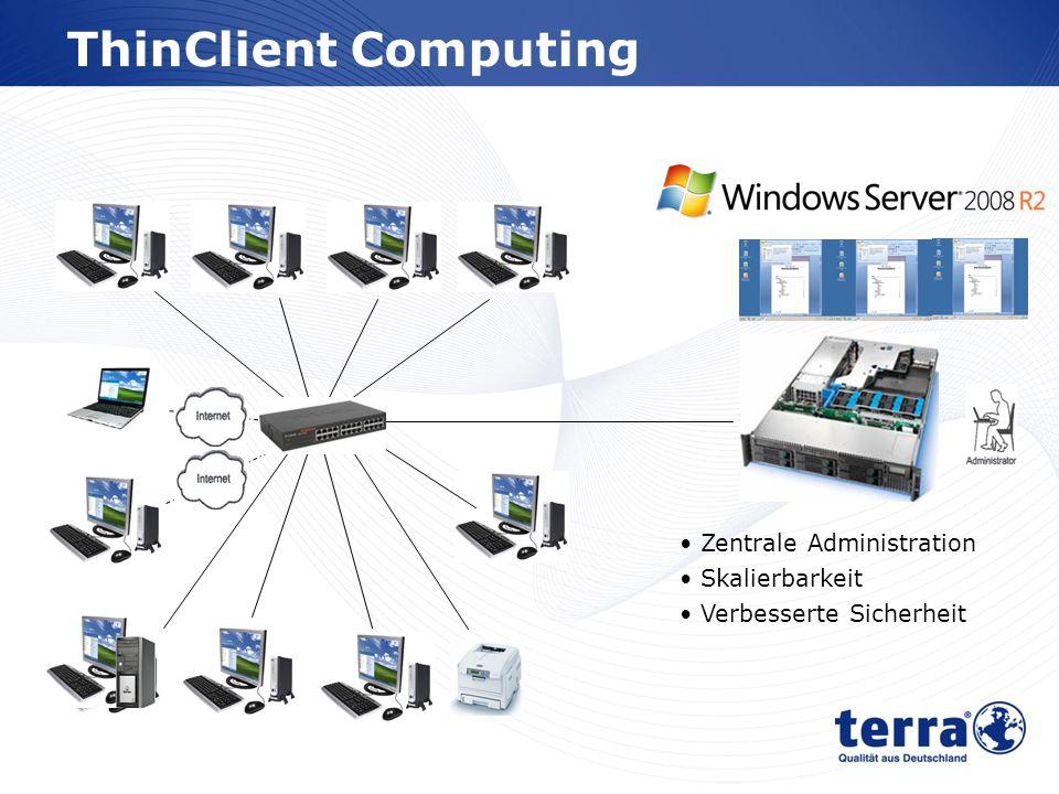 www.wortmann.de ThinClient Computing Zentrale Administration Skalierbarkeit Verbesserte Sicherheit