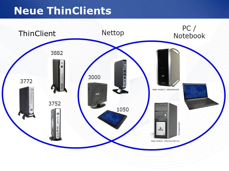 www.wortmann.de Neue ThinClients 3772 3882 3752 3000 1050 ThinClient PC / Notebook Nettop