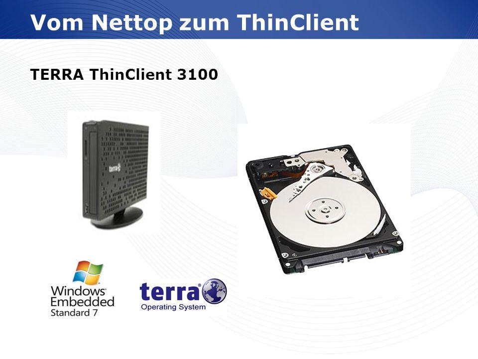www.wortmann.de Vom Nettop zum ThinClient TERRA ThinClient 3100 Transcend Half-Size SSD
