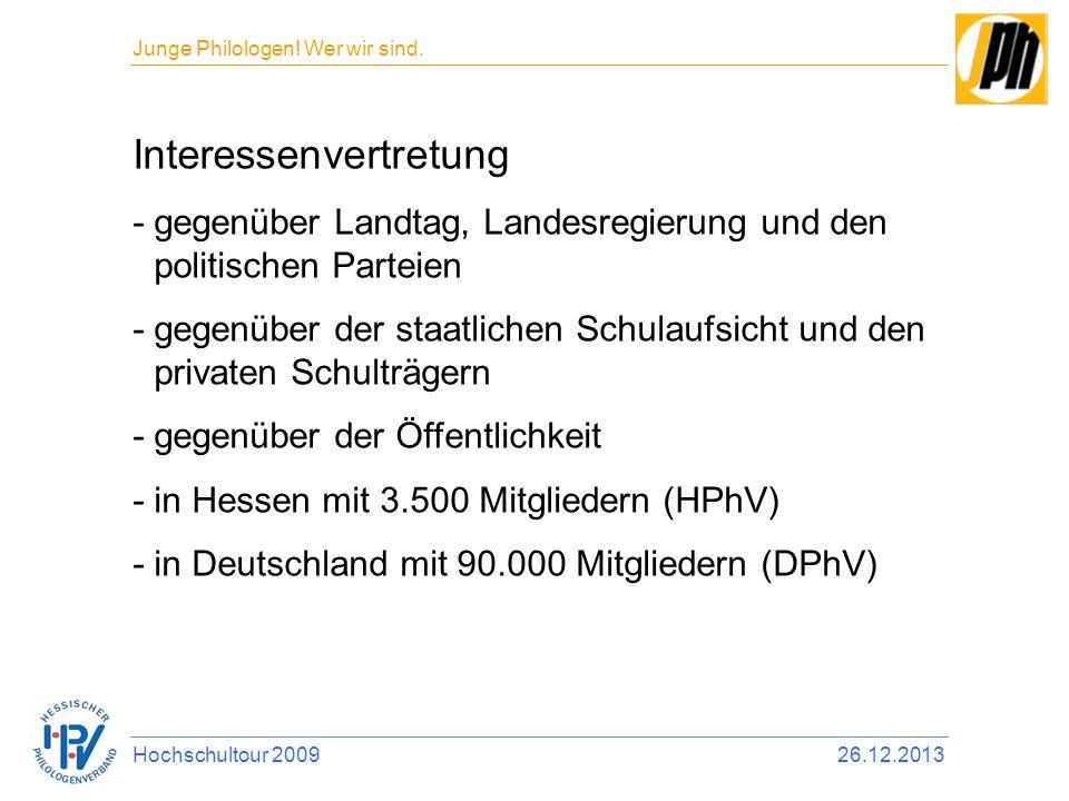Interessenvertretung -gegenüber Landtag, Landesregierung und den politischen Parteien -gegenüber der staatlichen Schulaufsicht und den privaten Schult