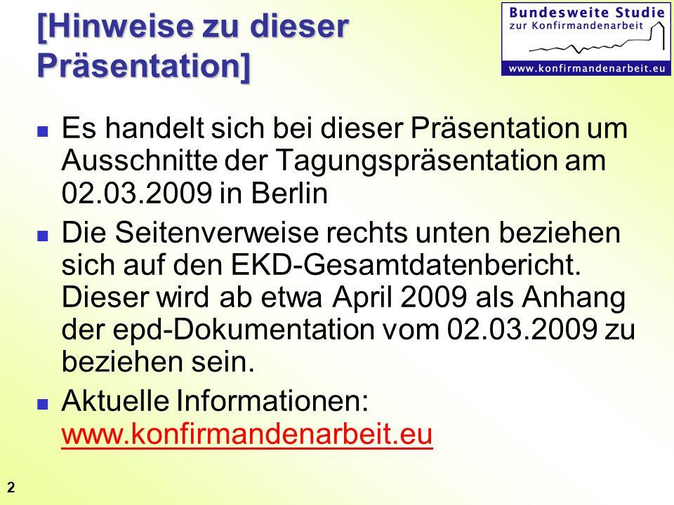 2 [Hinweise zu dieser Präsentation] Es handelt sich bei dieser Präsentation um Ausschnitte der Tagungspräsentation am 02.03.2009 in Berlin Die Seitenv