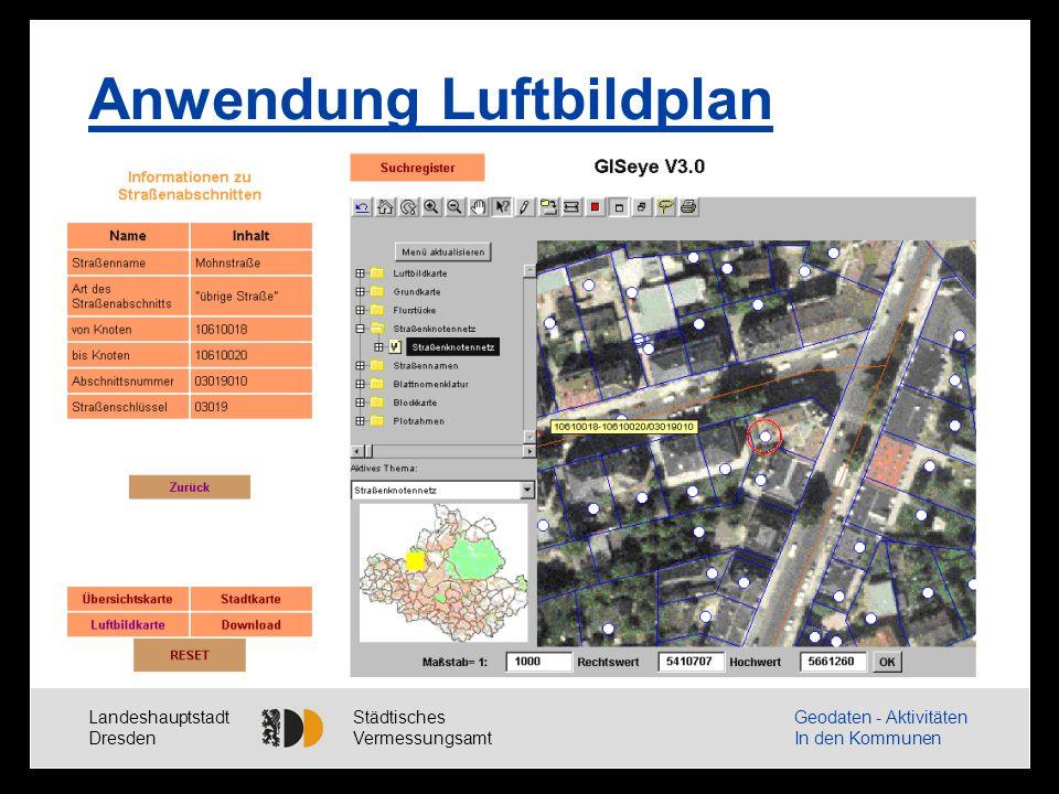 Landeshauptstadt Dresden Städtisches Vermessungsamt Geodaten - Aktivitäten In den Kommunen Anwendung ALK