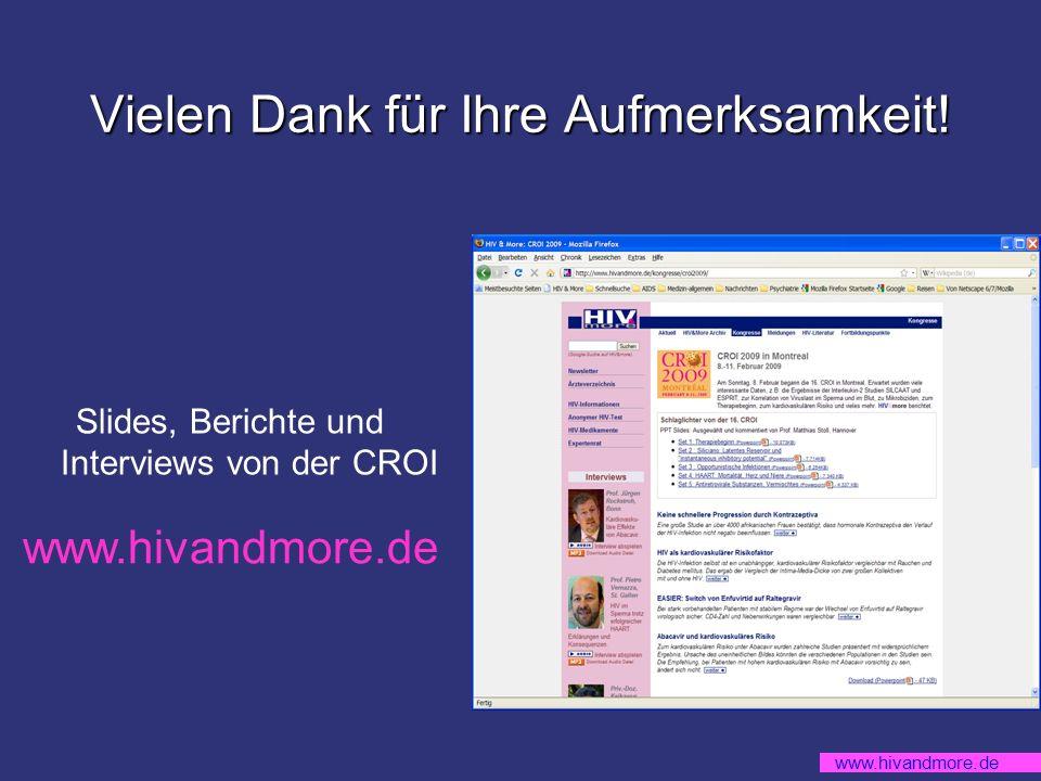 www.hivandmore.de Vielen Dank für Ihre Aufmerksamkeit.