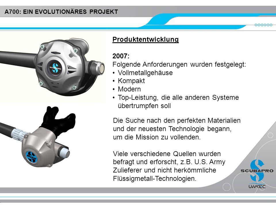 Produktentwicklung 2007: Folgende Anforderungen wurden festgelegt: Vollmetallgehäuse Kompakt Modern Top-Leistung, die alle anderen Systeme übertrumpfe