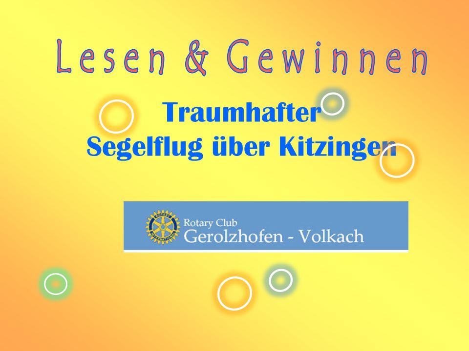 Traumhafter Segelflug über Kitzingen
