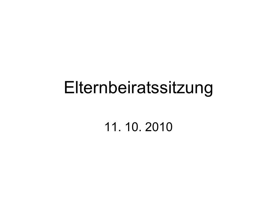 Elternbeiratssitzung 11. 10. 2010