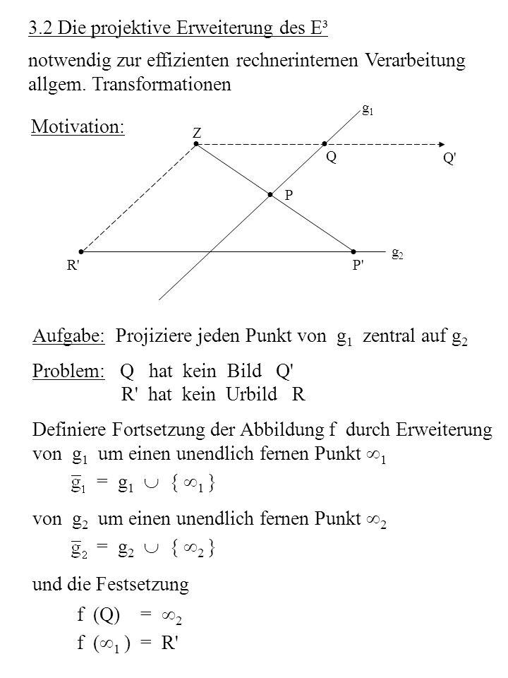 Parallelprojektion geg.: Bildebene, Projektionsrichtung S wähle spezielles KOS (Sichtkoordinatensystem) S = {O s : x s, y s, z s } derart, dass die Bildebene mit der x s -y s -Ebene und O s mit dem Bildpunkt zusammenfällt.