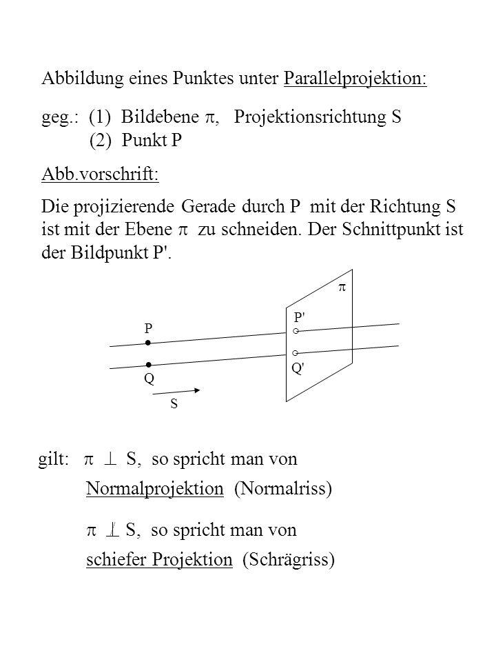 Zentralprojektion: spezielles KOS: z 0 liege auf negativer z-Achse, Bildebene sei x - y-Ebene, d.h.
