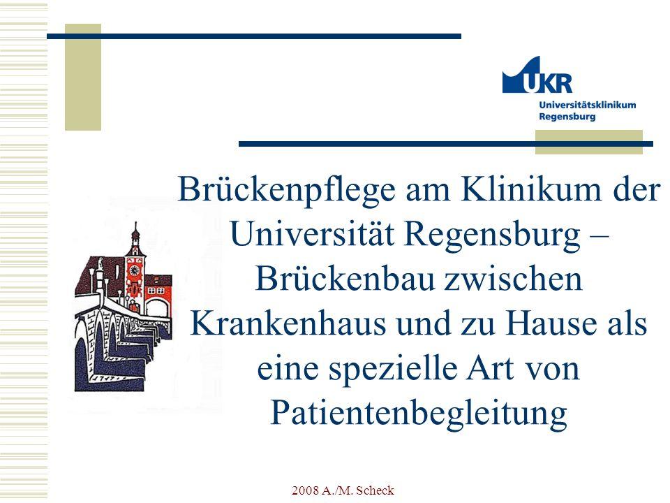 2008 A./M. Scheck Brückenpflege am Klinikum der Universität Regensburg – Brückenbau zwischen Krankenhaus und zu Hause als eine spezielle Art von Patie
