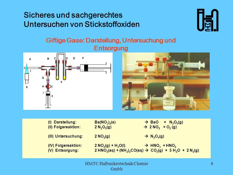 HMTC Halbmikrotechnik Chemie Gmbh 7 Sicheres und sachgerechtes Untersuchen von Stickstoffoxiden HMTC – Halbmikrotechnik Chemie GmbH HMTC Bild: Basis-Set Bild: Skizzen-Elemente www.halbmikrotechnik.de