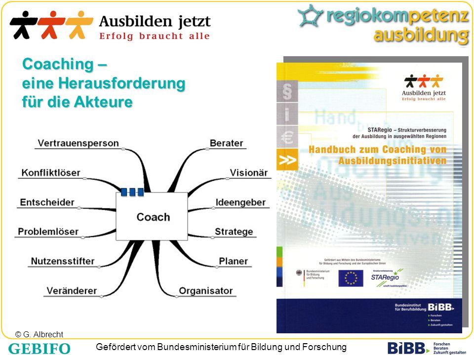 Gefördert vom Bundesministerium für Bildung und Forschung Coaching – eine Herausforderung für die Akteure © G. Albrecht