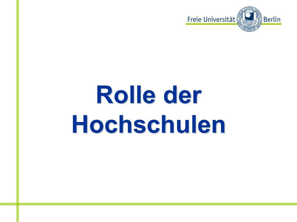 Rolle der Hochschulen