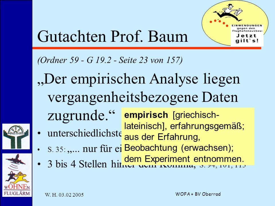 W. H. 03.02 2005 WOFA + BV Oberrad Gutachten Prof.