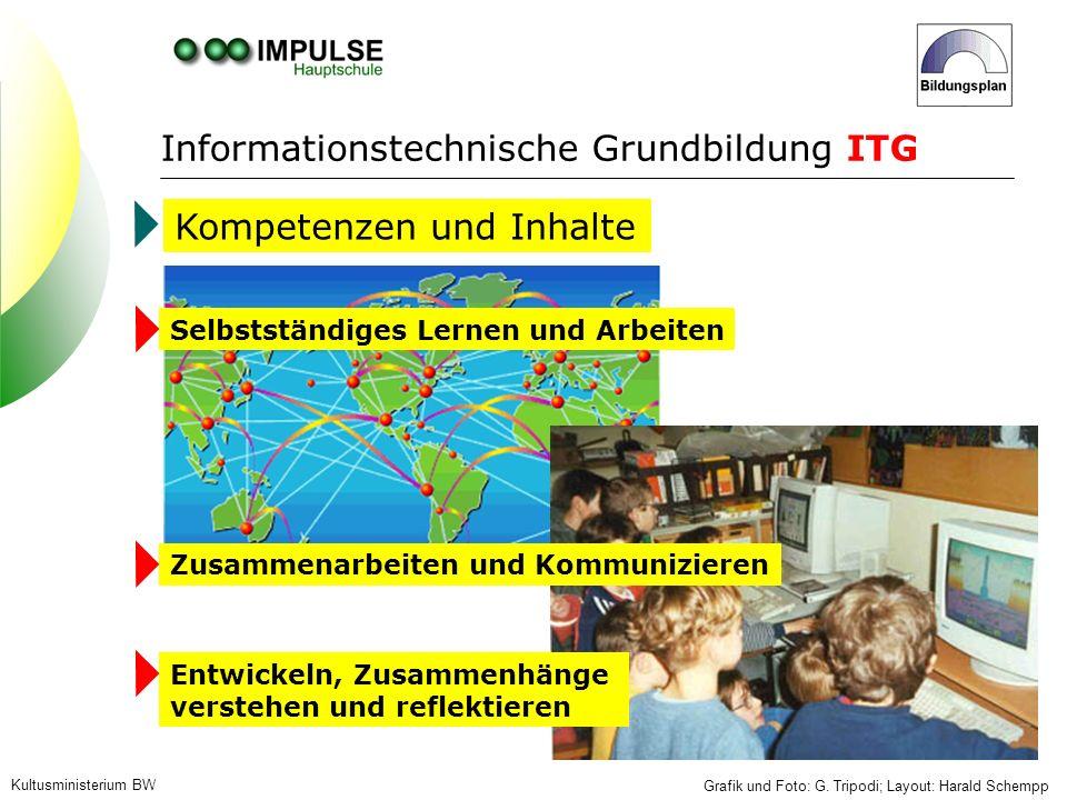 Struktur der Informationstechnischen Grundbildung Kultusministerium BW Grafik und Foto: G.