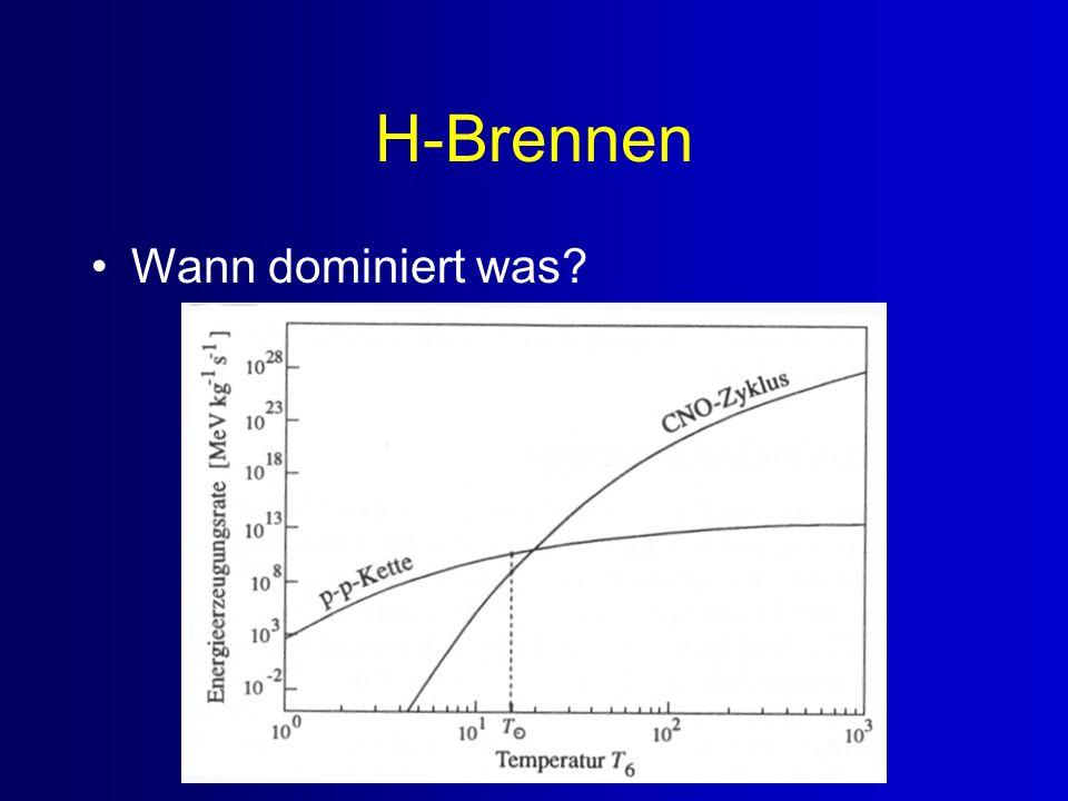 H-Brennen Wann dominiert was?
