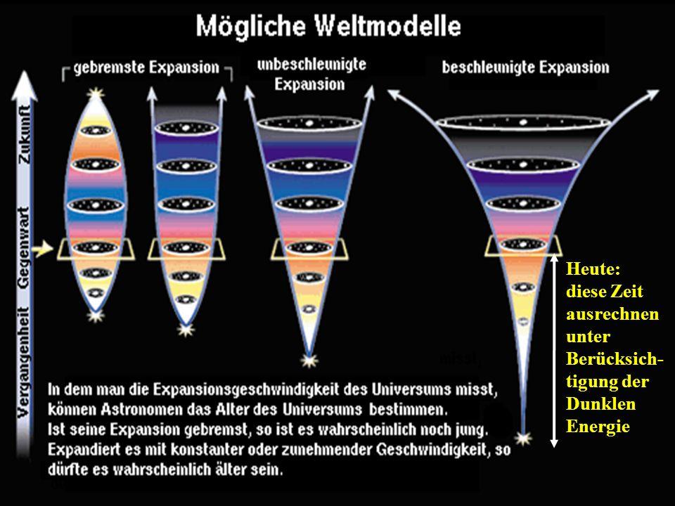 Wim de Boer, KarlsruheKosmologie VL, 12.11.2010 4 Heute: diese Zeit ausrechnen unter Berücksich- tigung der Dunklen Energie