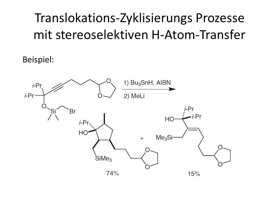 Translokations-Zyklisierungs Prozesse mit stereoselektiven H-Atom-Transfer Beispiel: