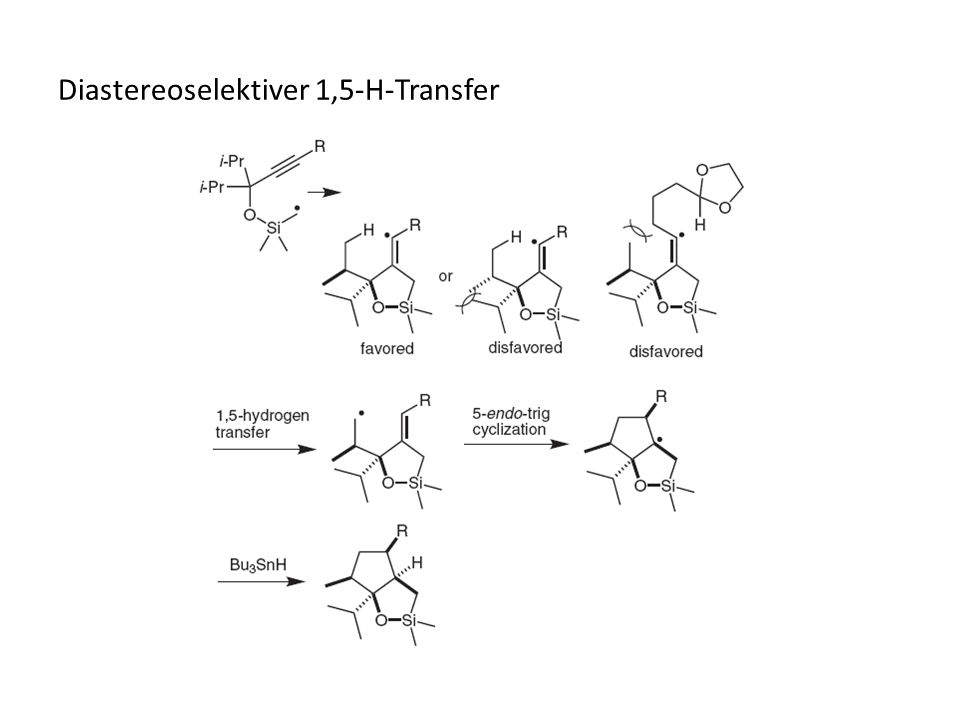 Diastereoselektiver 1,5-H-Transfer
