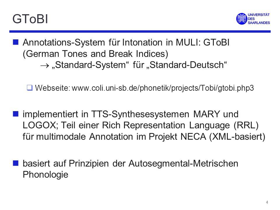 3 Intonation und Informationsstruktur nzentrale Funktion von Intonation: Markierung informationsstruktureller Konzepte, z.B.