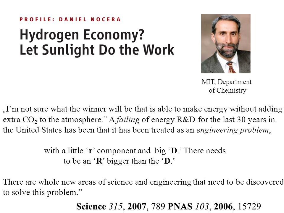 Im not sure what the winner will be that is able to make energy without adding extra CO 2 to the atmosphere.