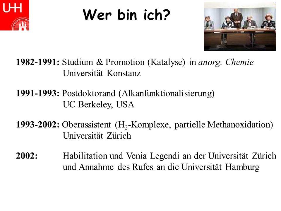 Wer bin ich.1982-1991: Studium & Promotion (Katalyse) in anorg.