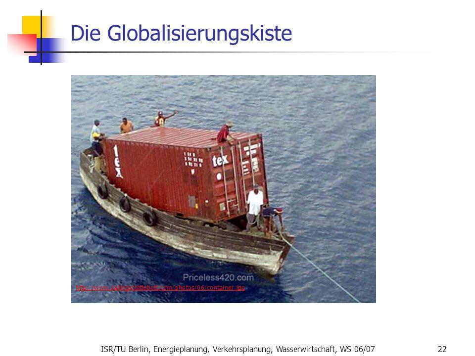 ISR/TU Berlin, Energieplanung, Verkehrsplanung, Wasserwirtschaft, WS 06/07 22 Die Globalisierungskiste http://www.sailingscuttlebutt.com/photos/06/con