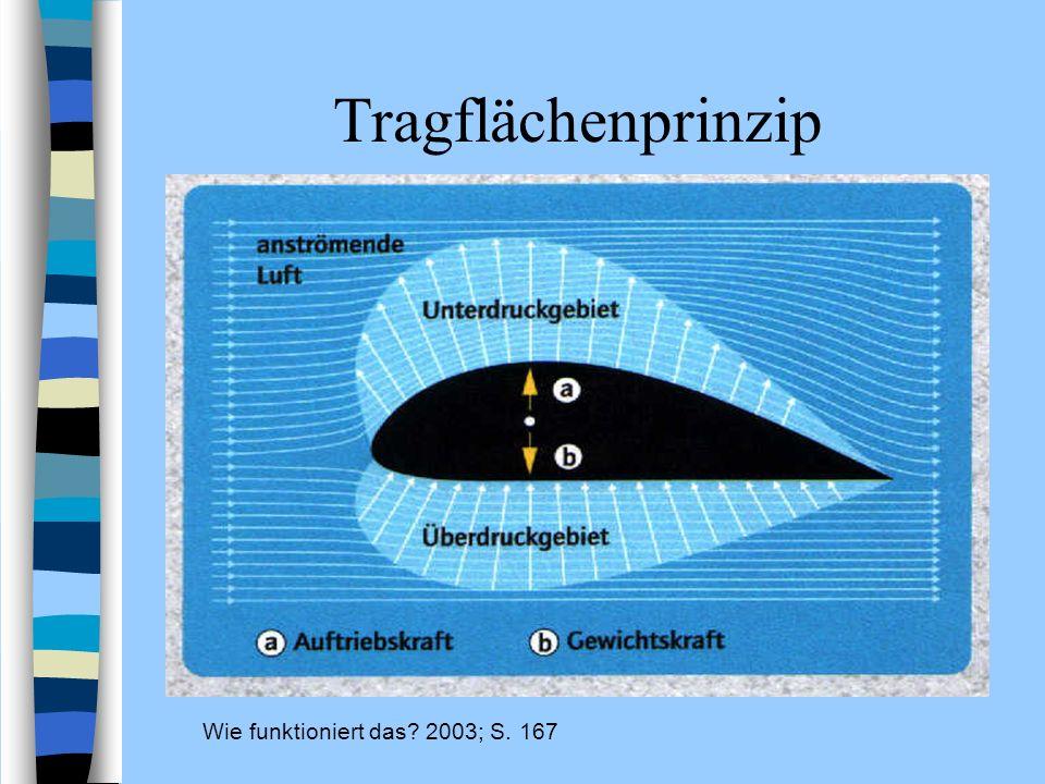 Tragflächenprinzip Wie funktioniert das? 2003; S. 167