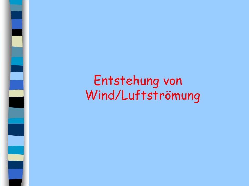 Entstehung von Wind/Luftströmung