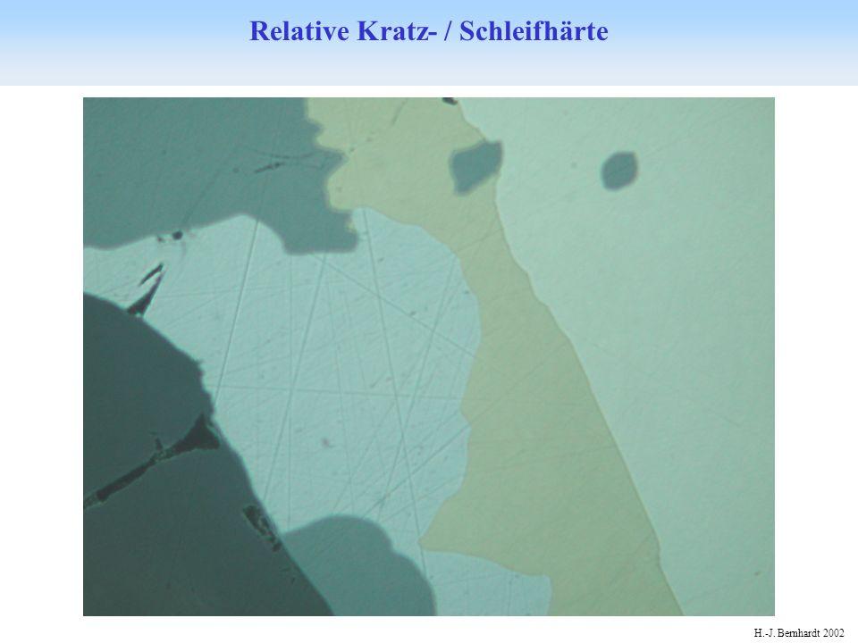 H.-J. Bernhardt 2002 Relative Kratz- / Schleifhärte im Differential-Interferenzkontrast
