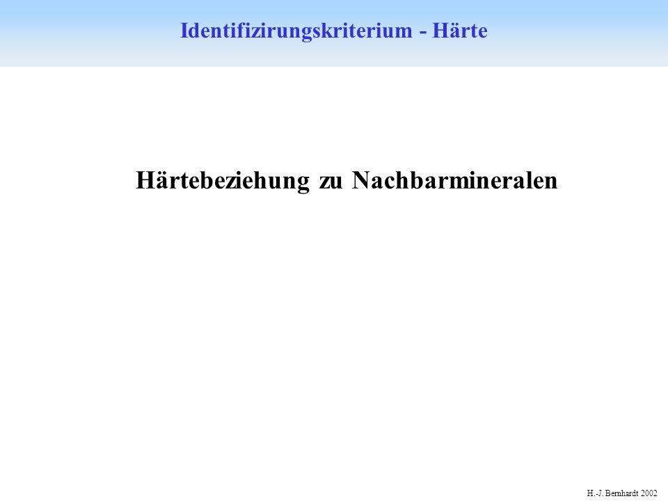 H.-J. Bernhardt 2002 Identifizirungskriterium - Härte Härtebeziehung zu Nachbarmineralen