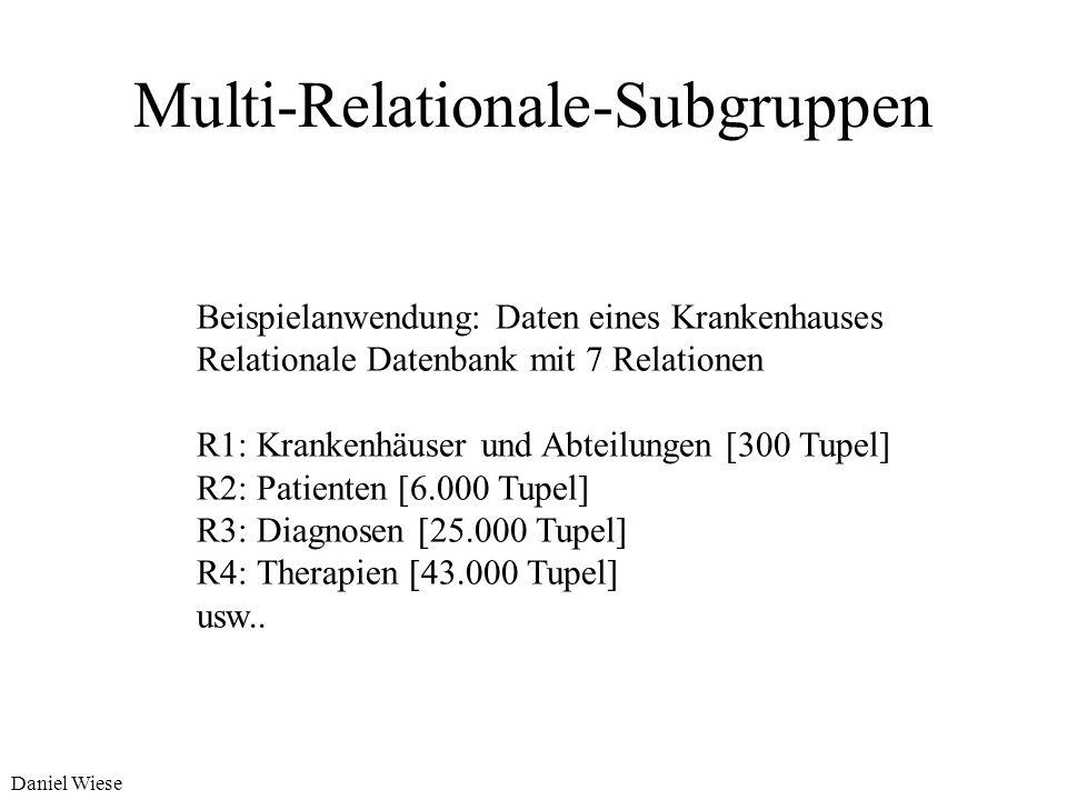 Daniel Wiese Welche Hypothesensprache kann verwendet werden? Ein-relationale Hypothesensprache Multi-relationale Hypothesensprache Hypothesensprache d