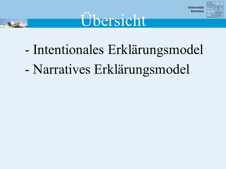 Übersicht - Intentionales Erklärungsmodel - Narratives Erklärungsmodel
