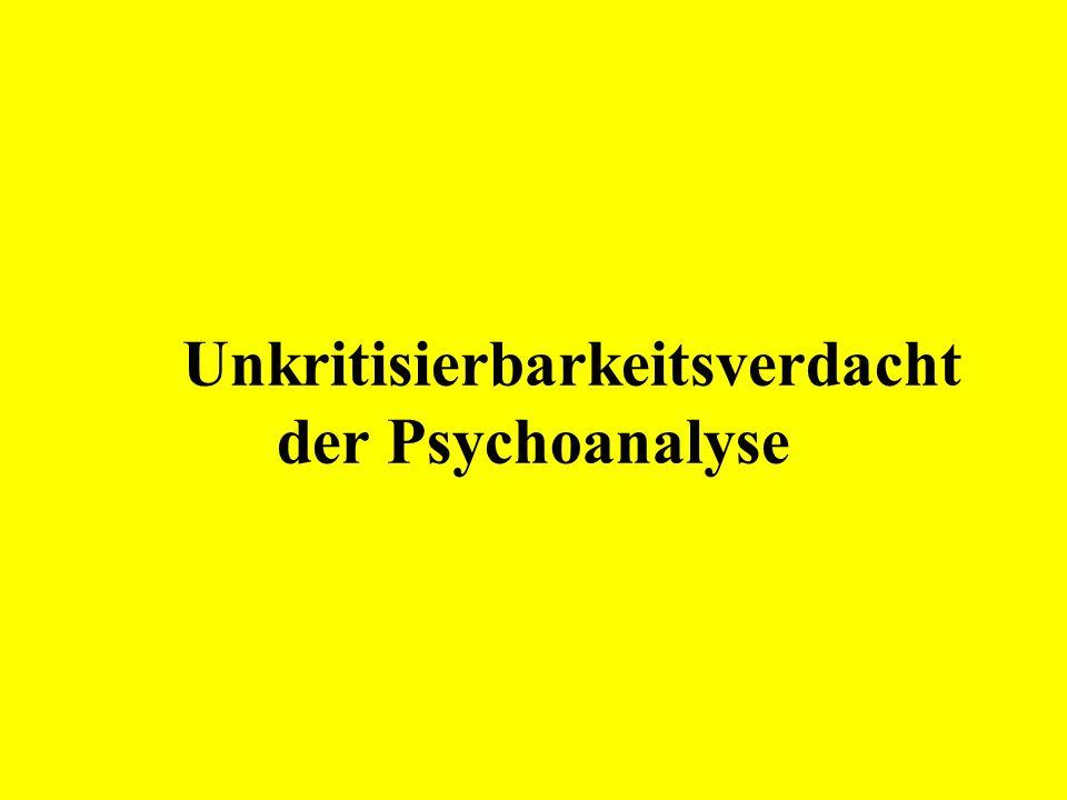 Unkritisierbarkeitsverdacht der Psychoanalyse