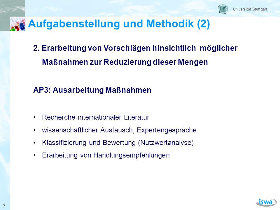 Universität Stuttgart Wieviel ist es nun wirklich? 8