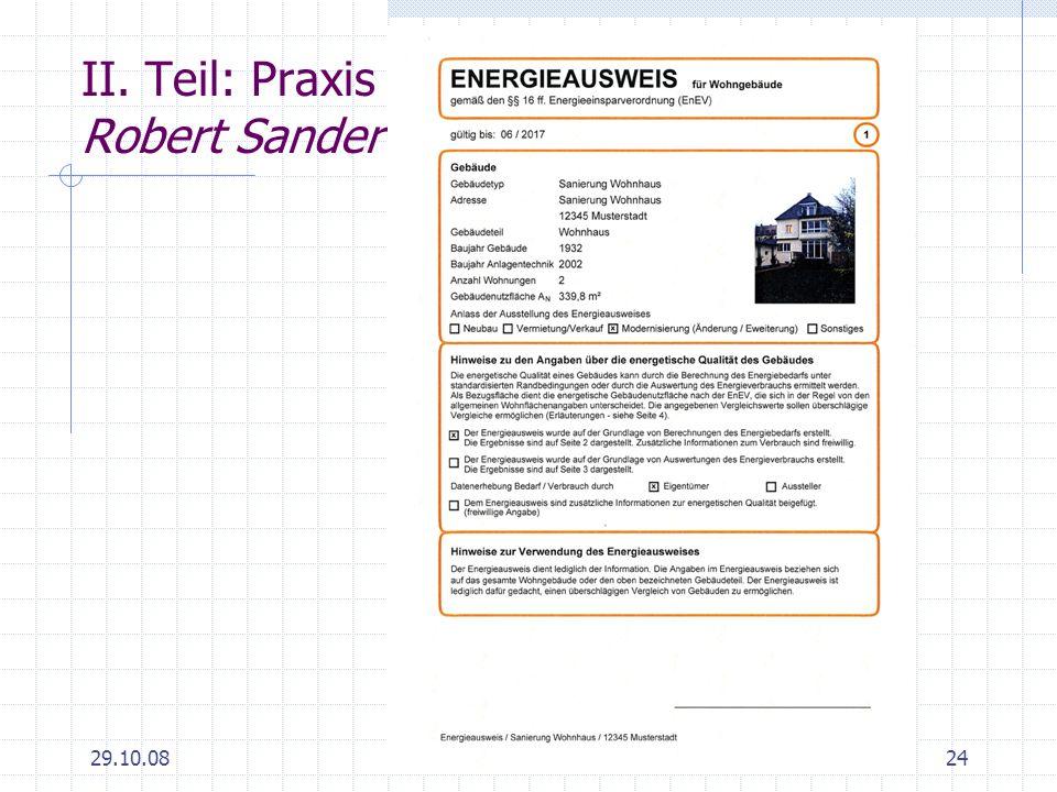 29.10.0824 II. Teil: Praxis Robert Sander