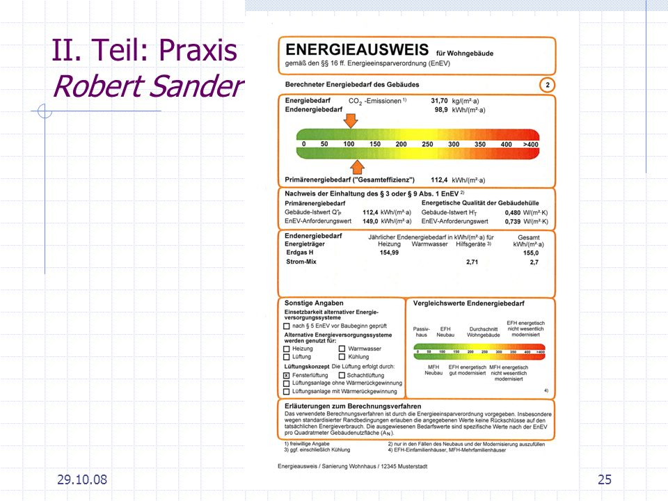 29.10.0825 II. Teil: Praxis Robert Sander