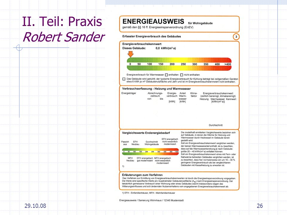 29.10.0826 II. Teil: Praxis Robert Sander
