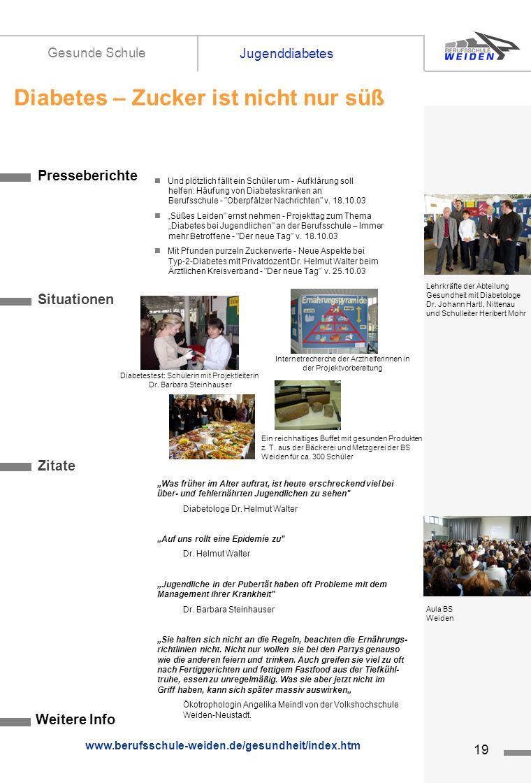 tz19 Presseberichte Situationen Zitate Weitere Info www.berufsschule-weiden.de/gesundheit/index.htm Und plötzlich fällt ein Schüler um - Aufklärung so